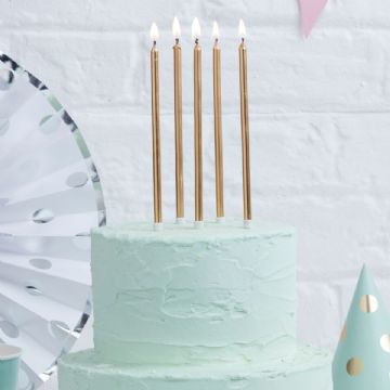 Extra Long Gold Party Cake Candles
